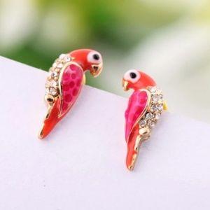 pair of love birds earrings